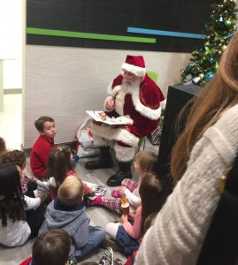 Story time with Santa at Smile Town Dental Group in Grimsby