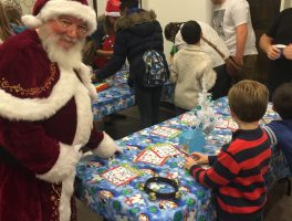 Pizza Party With Santa At Smile Town Dental Group